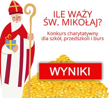 """Charytatywny konkurs """"Ile waży św. Mikołaj?"""" - wyniki"""